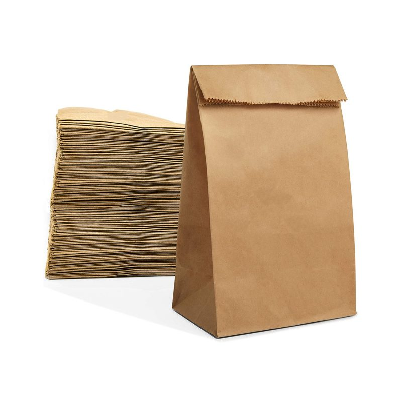 Brown Lunch Paper Bags Eco Friendly Kraft Paper Bags