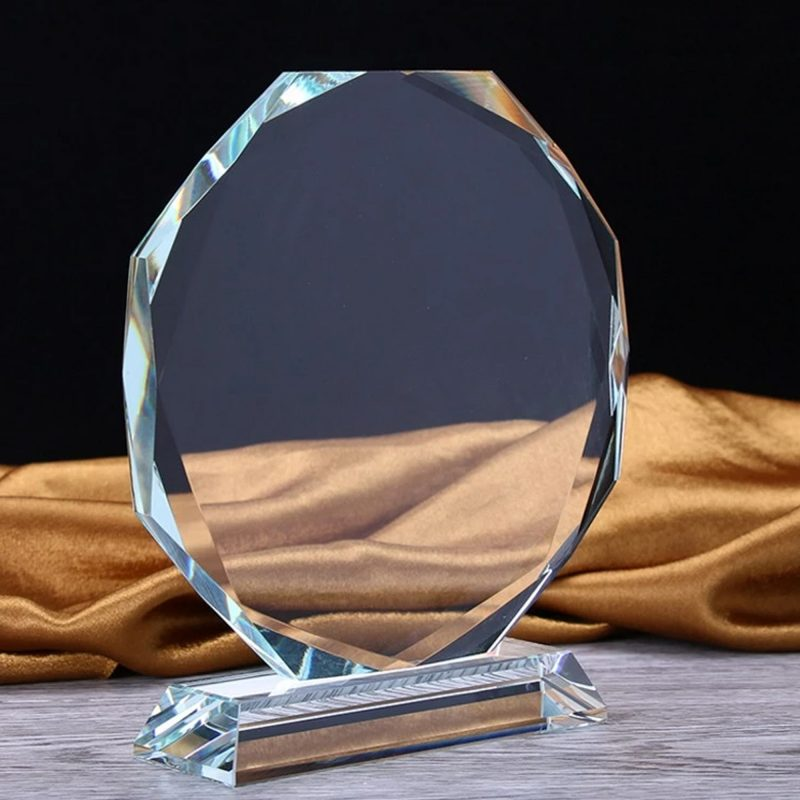 Crystal Engraving Award Trophy