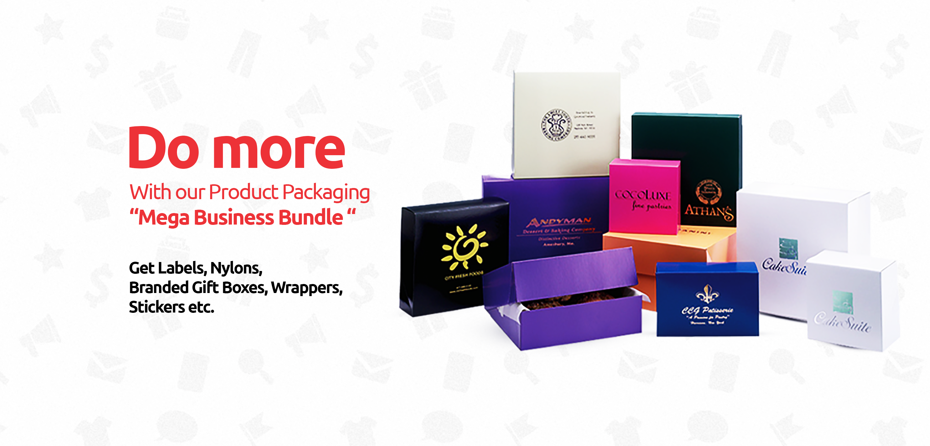 """With our Product Packaging  """"Mega Business Bundle """""""